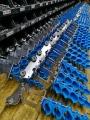 Przygotowanie wózków kablowych do produkcji 100 firan kablowych do kabli okrągłych.